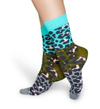 Happy Socks - Socken - Basket Socks grau / grün / türkis - Block Leopard