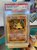 Charizard 4/102 - 1999 Pokemon Base Set Holo Rare - GRADED PSA 6 Excellent Mint