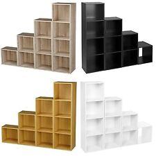 1 2 3 4 Tier Wooden Shelving Bookcase Storage Wood Shelf Unit Beech Cube
