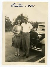 1930s photo  Los Angeles County CA #12  Man and lady  by car   LA30