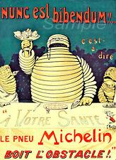 Vintage 1898 neumáticos Michelin A3 cartel Impresión De Publicidad