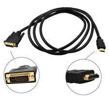 HDMI auf DVI Kabel Full HD PC TV Video Beamer 2m Adapter Kabel Buchse 255