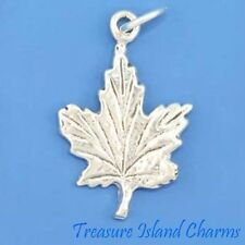 Canadian Canada Maple Leaf .925 Solid Sterling Silver Charm Pendant MADE IN USA