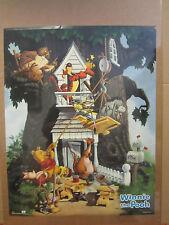 Vintage Winnie the Pooh poster building treehouse disney  4433