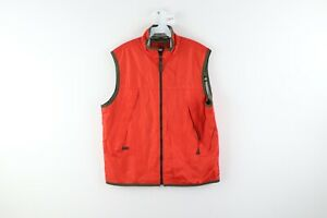 Vtg 90s Gap Streetwear Mens Medium Thermal Knit Lined Windbreaker Vest Orange