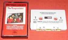 THE TEMPTATIONS - UK CASSETTE TAPE - CHRISTMAS CARD - MOTOWN GREATS