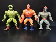 Lot Vintage 80s MOTU Masters of the Universe HE MAN Kobra Khan Stratos Clawful