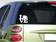 "Football love 6"" sticker *F257* quarterback decal car decal helmet pads gloves"