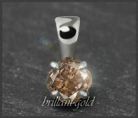 Diamant 585 Gold Damen Anhänger 0,42 ct, champagner, VS; Gleiter 14K Weißgold