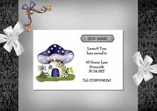 Change of Address cards x 10 (117A) Personalised