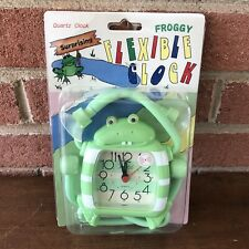 Vintage Frog Clock Froggy Flexible
