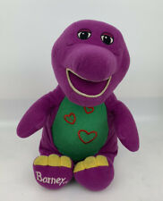 """2003 Barney & Friends Love 'N Lights Hearts 9"""" Plush Doll Battery Tested/Works"""
