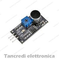 MODULO MICROFONO SENSORE SUONO RILEVATORE VOCE RUMORE (Arduino-Compatibile)