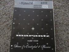 New listing Marantz 4220 Quadradial 4 Receiver Original Service Repair Manual
