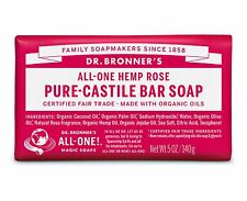 Dr Bronner's Pure Castile Bar Soap 140g - 11 Varieties to Choose From Rose