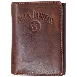 Jack Daniels Brown Old No. 7 Bi-Fold Wallet Brown