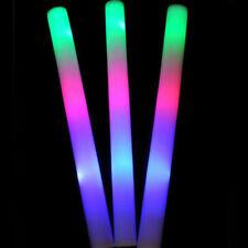 30x LED Espuma Palos Glow Stick Mlticolores Luminoso Fiesta Navidad Nocturna