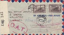 Canada, 1945, Cover, Censored, London OAT & Retour, to Sweden