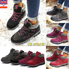 Women Ladies Winter Warm Anti-Slip Platform Snow Boots Fur Lined Sneaker Shoes