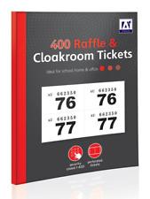 1 - 400 boletos de rifa y aseo-Libro Color números Tombola dibujar lotería