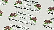 325 x Thank You for Your Purchase Labels Hibiscus Sticky White Matte Labels