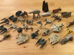 STAR WARS MICRO MACHINES 2015 - TOY OR CAKE TOPPER - FALCON TIE X WING - LOADS !