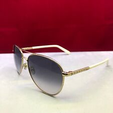 Christian Dior aviator sunglasses women with white and gold temples