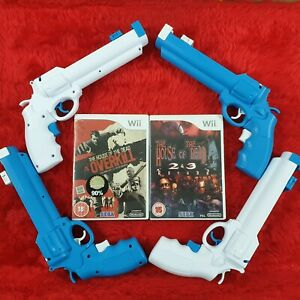 wii HOUSE OF THE DEAD Games + REVOLVER LIGHT GUNS Multiplayer Arcade Shooter