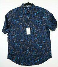 NWT Robert Graham Colefax Mens Large Classic Fit S/S Shirt Blue Paisley $198.00
