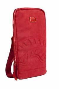 Sprayground SHARK SMARTPACK RED SEUEDE SLIM THIN LAPTOP IPAD NOTE BACKPACK B1689