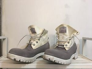 Opening Ceremony white Timberland Boots Roll-Top
