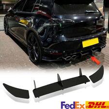 Rear Bumper Diffuser Lip Splitter Body Kit For Volkswagen Golf MK7 R Rline 14-17