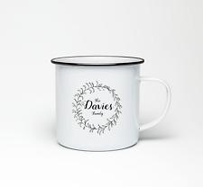 Your Family Name PERSONALISED Mug Wedding Anniversary Gift Enamel Tea Cup 10oz
