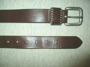 """JAG MENS  BROWN TOUGH LEATHER BELT TO 36"""" VGC    MADE IN AUSTRALIA"""
