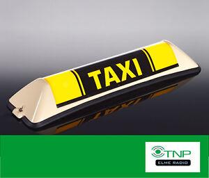 Taxischild Barclay Toplight Mercedes VW T5 Taxi Dachzeichen Taxi Zeichen