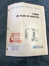 Hewlett Packard 11869A RF Plug-In Adapter HP Operating And Service Manual