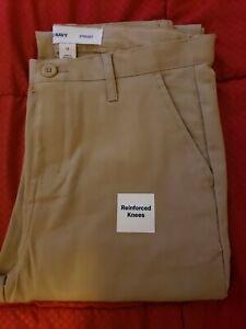 Boys Old Navy Straight Uniform Pants - Khaki, NWT 14