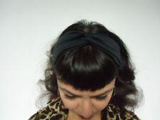 Bandeau headband turban noir élastique coiffure retro pinup annees 20 original