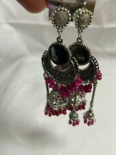 New Handmade Tibetan silver Indian hippie boho Mirror Dangle Earring Earrings