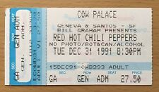 1991 Nirvana Pearl Jam Red Hot Chili Peppers San Francisco Concert Ticket Stub A