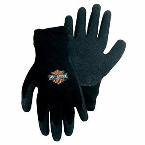 Harley Davidson EXTRA LARGE Gloves Hand Protection Rubber Dipped Knit Motorcycle