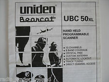 Uniden ubc 50 xl (operating instructions)... radio _ trader _ irlande.