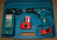 MAKITA 6203D DC 9.6V Cordless Drill, 2 Batteries, Charger & Case Nice Works