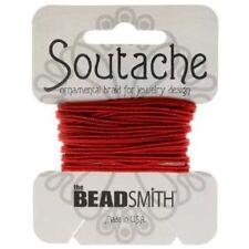 Beadsmith 3mm soutache Red lung 3 METRI