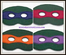 Handmade Kids Mask - Teenage Mutant Ninja Turtles Set of 4 - Costume - Dress Up