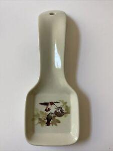 Vintage OTAGIRI Japan Ceramic Spoon Rest,Hummingbirds,