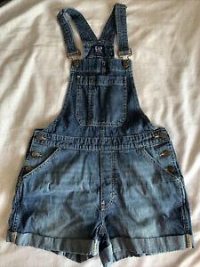 GAP denim overalls shorts womens