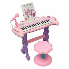 Keyboard Piano Electronic Toy Pink Educational Instrument Play Toys For Children