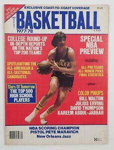 1977-78 NBA Pro Annual Basketball Vintage Magazine Pistol Pete Maravich Cover