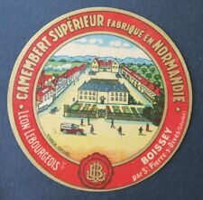 Etiquette fromage CAMEMBERT LEON BOURGEOIS  french cheese label 26